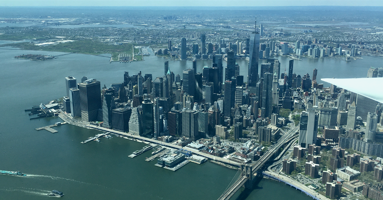 photo of new york city taken from aircraft