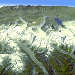 Himalayan Glaciers. Credit: NASA/GSFC/METI/ERSDAC/JAROS, and U.S./Japan ASTER Science Team